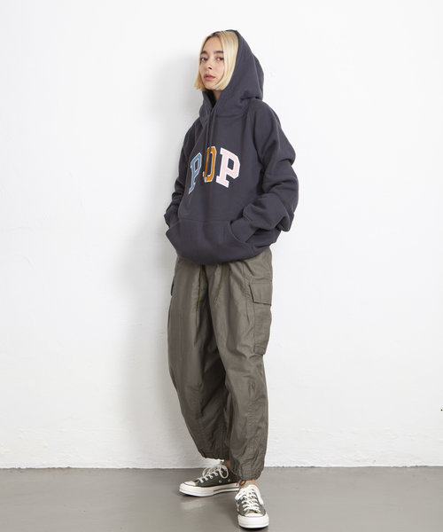 POP Arch Hooded Sweat Anthracite