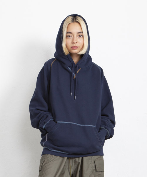 POP Logo Embroidered Hooded Sweat Navy/Multi