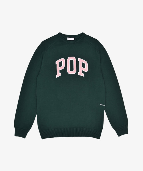 POP Arch Knitted Crewneck Bistro Green