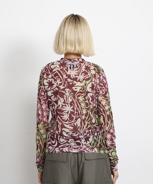 Stussy Stussy Psychedelic Palm Tree LS Red