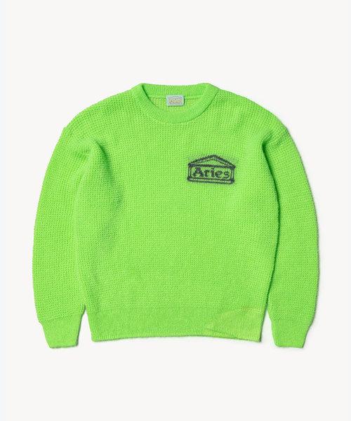 Aries Waffle Knit Jumper Green