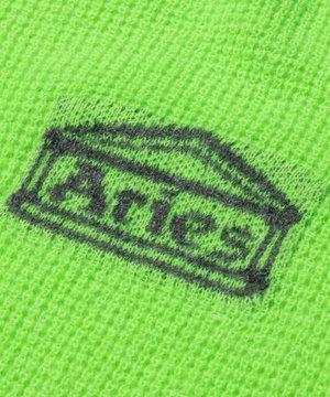 Aries Aries Waffle Knit Jumper Green
