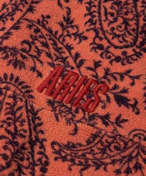 Aries Aries Paisley Reverse Fleece Half-Zip Coral