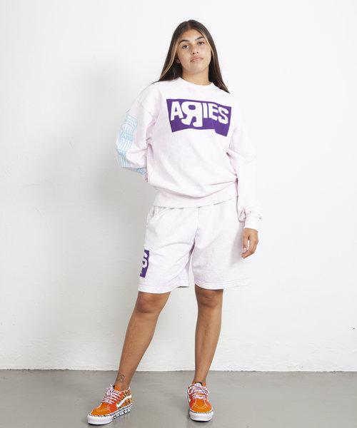 Vans X Aries Crew Sweatshirt Pink