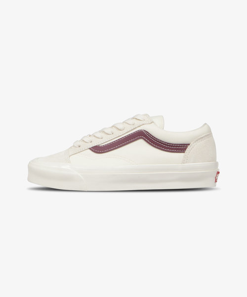 Vans UA OG Style 36 LX Classic White/Pomegranate