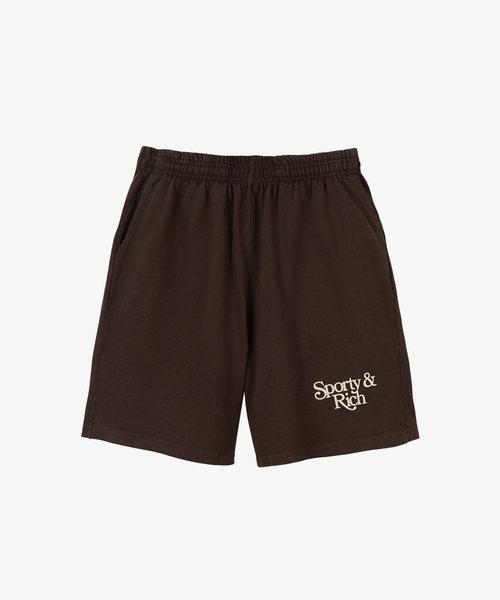 Sporty & Rich Bardot Gym Short Chocolate