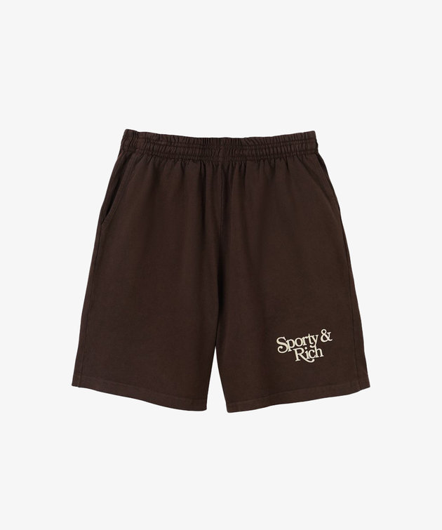 Sporty and Rich Sporty & Rich Bardot Gym Short Chocolate