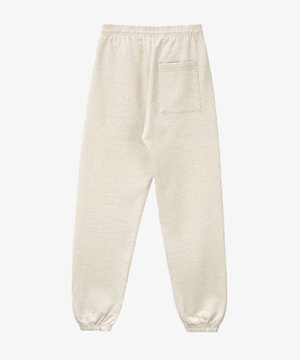 Sporty and Rich S & R Classic Logo Sweatpants Heather Oatmeal