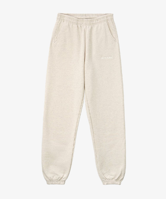 Sporty and Rich Sporty & Rich Classic Logo Sweatpants Heather Oatmeal