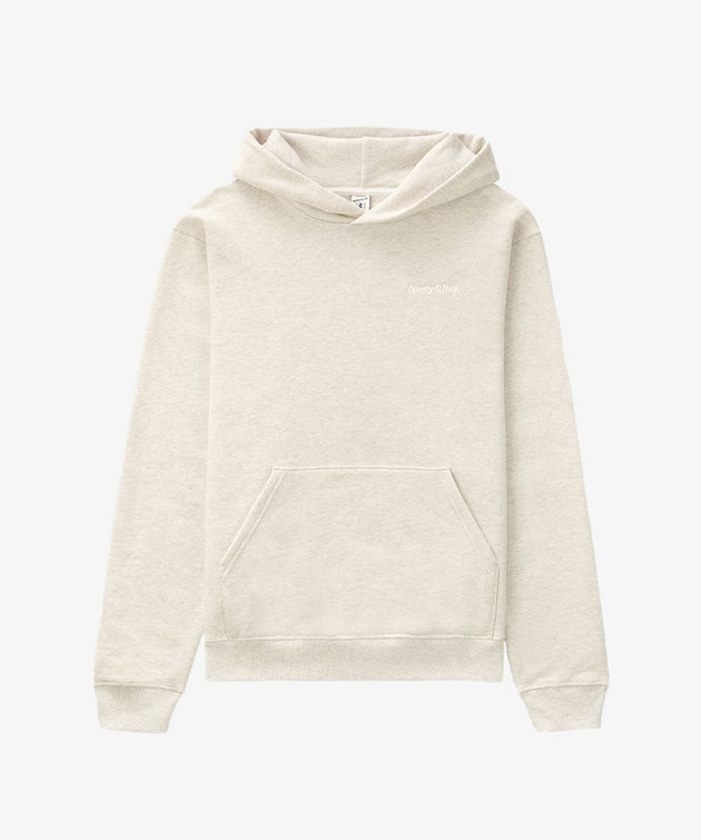 Sporty and Rich Sporty & Rich Classic Logo Hoodie Heather Oatmeal
