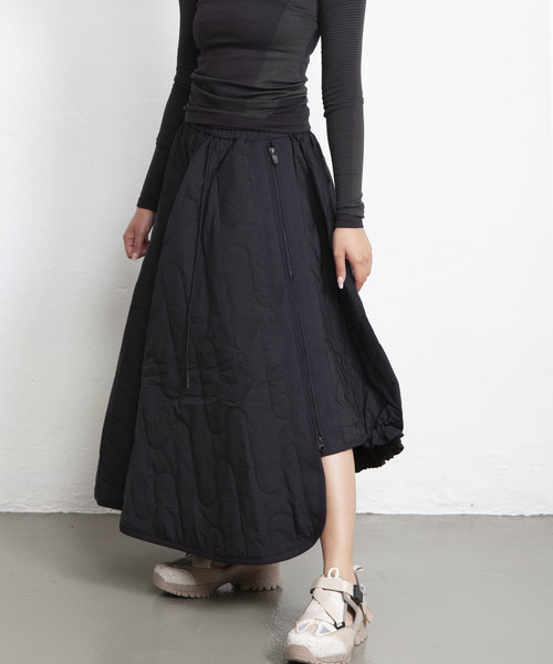Y-3 CH2 Cloud Quilted Skirt Black