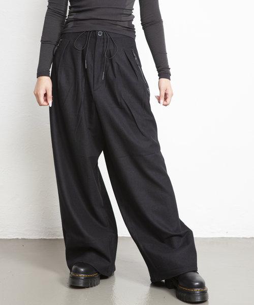 Y-3 CH2 Wool Flannel Pants Black