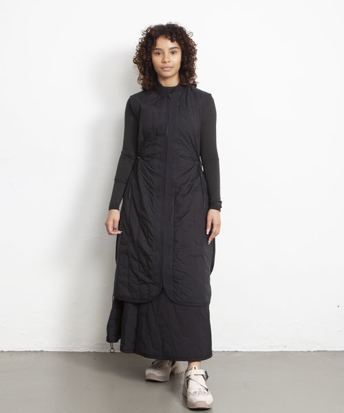 Y-3 CH2 Cloud Quilted Gilet Dress Black