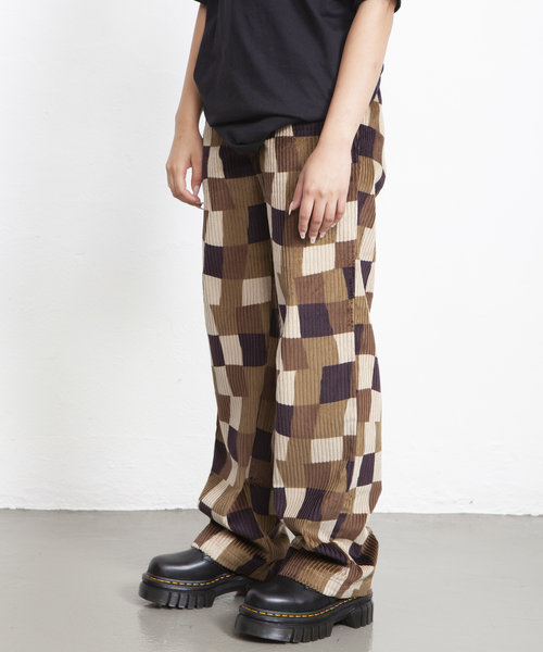 Stussy Wobbly Check Trouser Brown