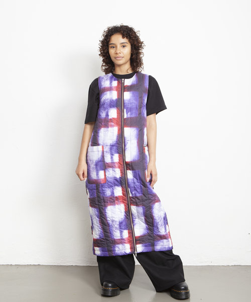 Stussy Blurry Quilted Dress Purple