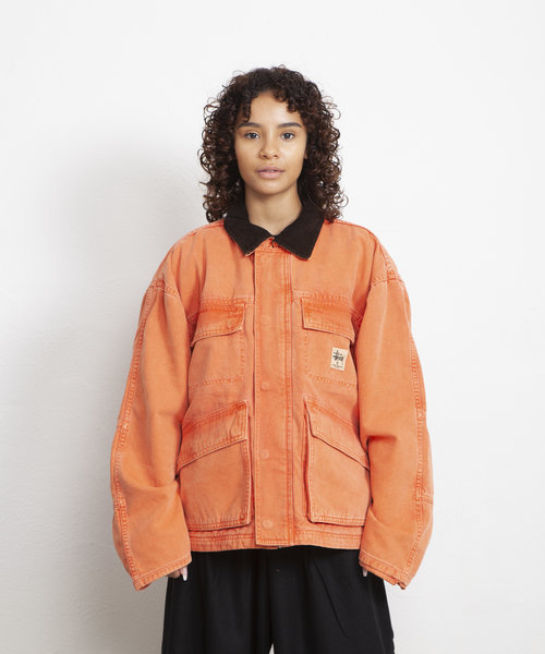 Stussy Washed Canvas Shop Jacket Orange