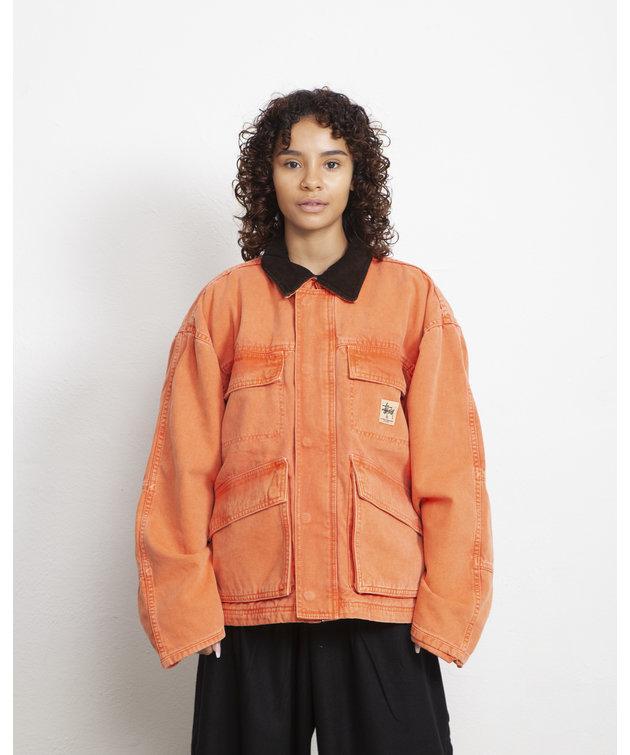 Stussy Stussy Washed Canvas Shop Jacket Orange