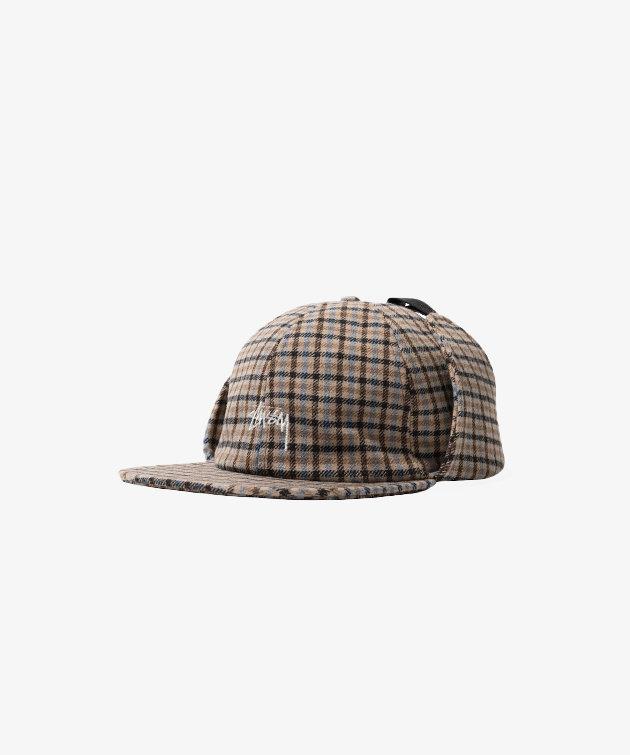 Stussy Stussy Wool Plaid Flap Cap Brown