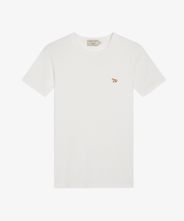 Maison Kitsune Maison Kitsune Tee Shirt Profile Fox Patch White
