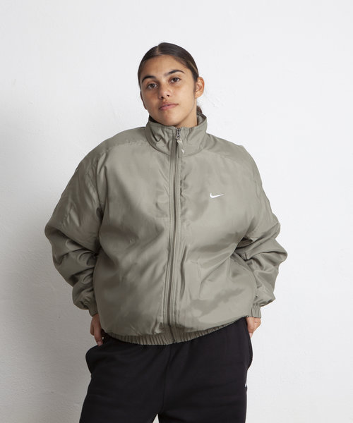 Nike Solo Swoosh Satin Bomber Jacket Light Army
