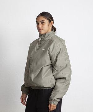 Nike Nike Solo Swoosh Satin Bomber Jacket Light Army