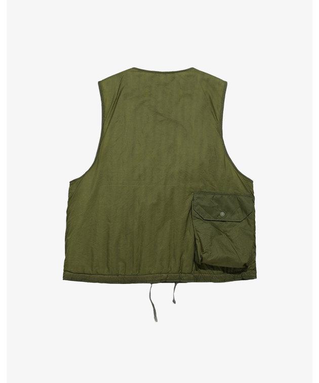 Engineered Garments EG Cover Vest Olive Nylon Micro Ripstop
