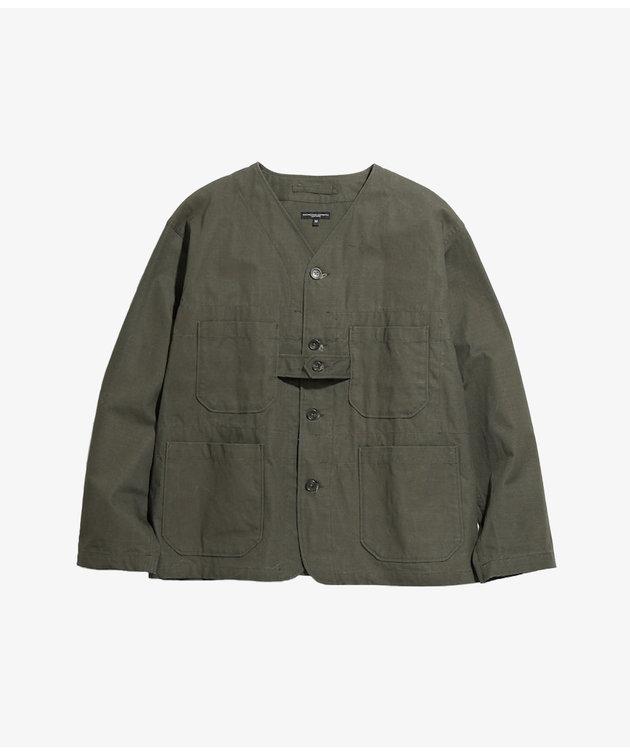 Engineered Garments EG Cardigan Jacket Olive Heavyweight Cotton Ripstop
