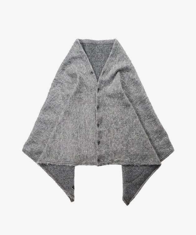 Engineered Garments EG Button Shawl H. Grey Solid Mohair