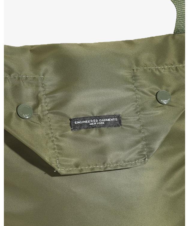Engineered Garments EG Shoulder Pouch Olive Flight Satin Nylon