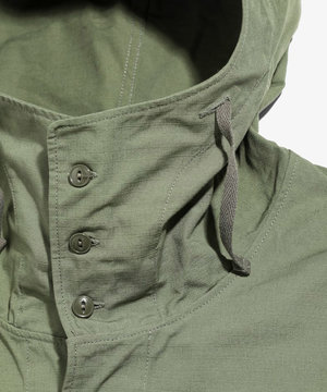 Engineered Garments EG Cagoule Dress Olive Cotton Ripstop