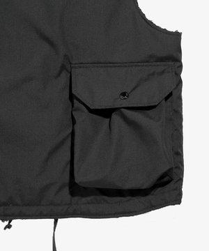 Engineered Garments EG Cover Vest Black PC Poplin