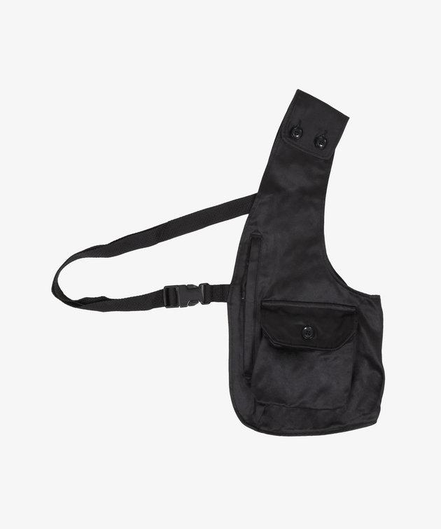 Engineered Garments EG Shoulder Vest Black Coated Twill