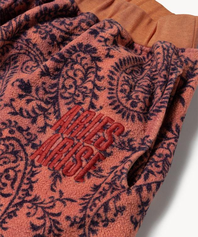 Aries Aries Paisley Reverse Fleece Sweatpant Coral