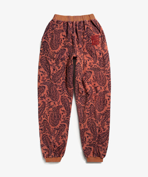 Aries Paisley Reverse Fleece Sweatpant Coral