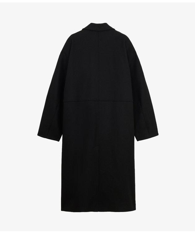 Maison Kitsune Maison Kitsuné Wrap Coat Black