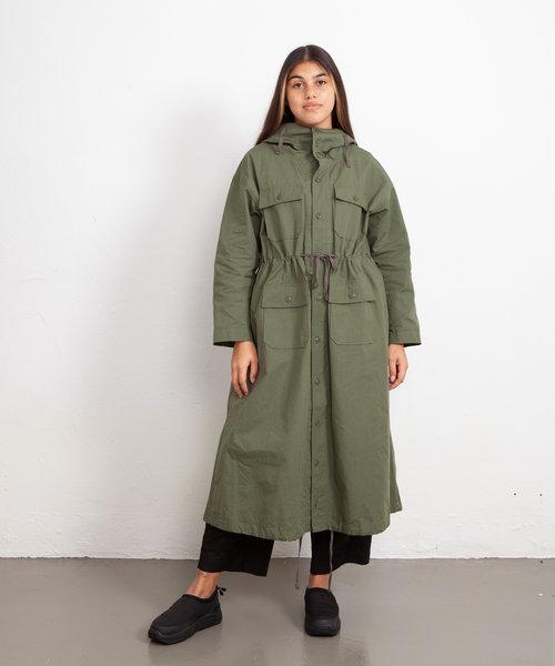 EG Cagoule Dress Olive Cotton Ripstop