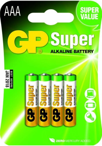 GP AAA Alkaline batterijen 4 stuks