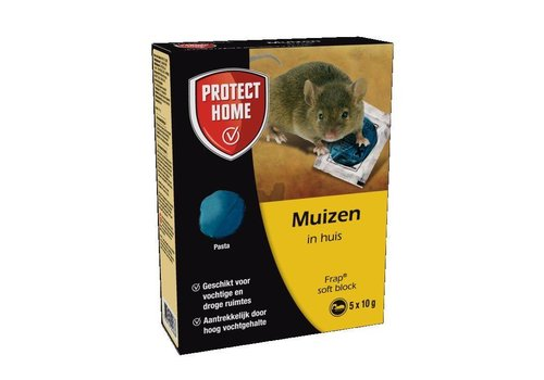 Protect Home Frap Soft Block muizengif 5 x 10 gram