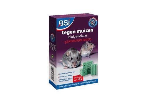 BSI Generation Block muizengif 5 x 20 gram
