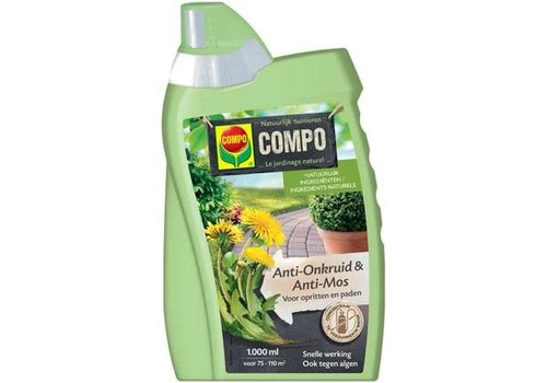 COMPO Anti-Onkruid & Anti-Mos Opritten & Paden Concentraat 1 liter