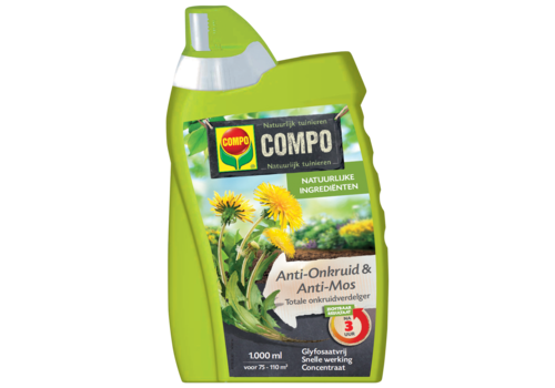 COMPO Anti-Onkruid & Anti-Mos Totale Onkruidbestrijder Concentraat 1 liter