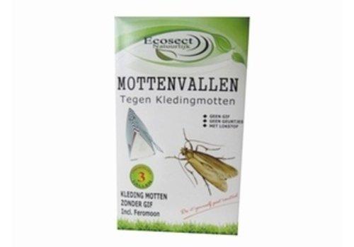Ecosect Mottenvallen tegen kledingmotten 3 stuks
