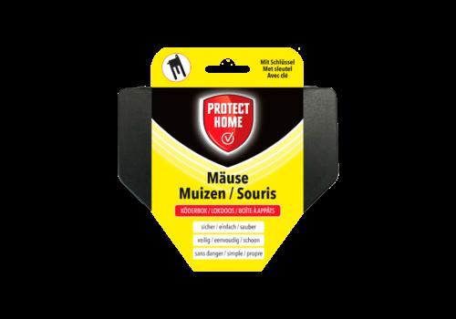 Protect Home Zwarte muizen lokdoos met sleutel
