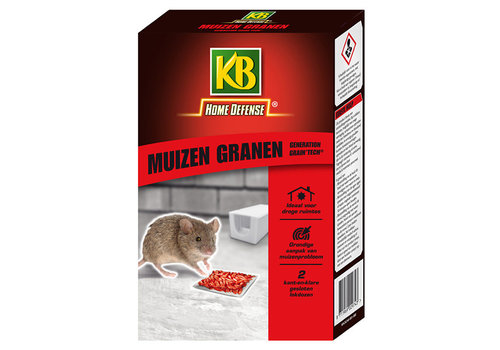 KB Home Defense Muizen granen Difethialon in 2 lokdozen