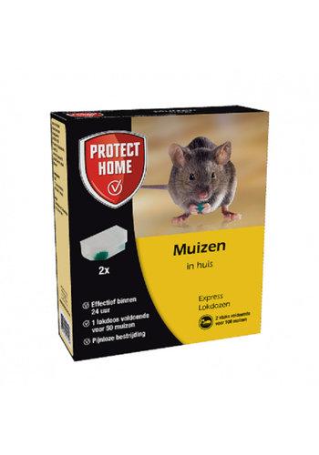 Protect Home Express Lokdoos gif tegen muizen 2 STUKS