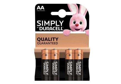 Duracell AA - batterijen pak van 4