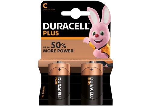 Duracell C - batterijen verpakking van 2