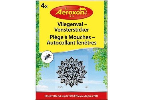 Aeroxon Vliegenval Venstersticker 4 stuks