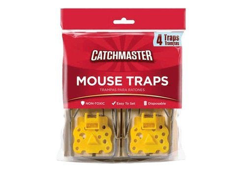 Catchmaster Houten muizenval 4 stuks