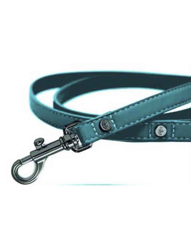 Leather dog leash aqua Milk & Pepper